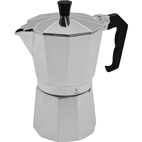 Argon Tableware 6 Cup Italian Style Stove Top Espresso Coffee Percolator. Traditional Design