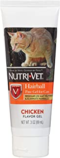 Nutri-Vet Feline Natural Oil Hairball Paw-Gel Chicken Flavor 3oz