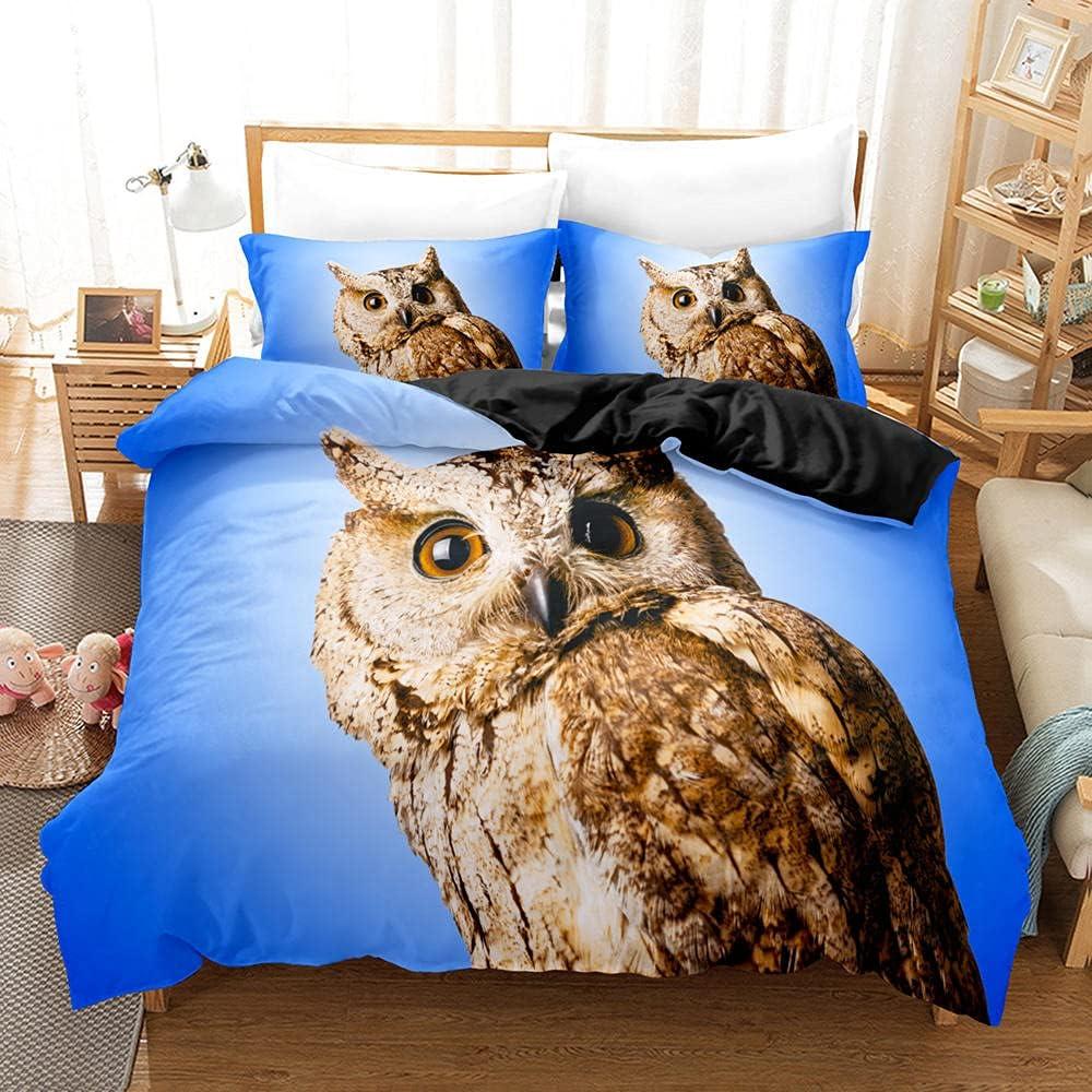 Full Duvet Covers Blue Sky Alternative dealer owl Zipper Cover cheap Clos with Comforter