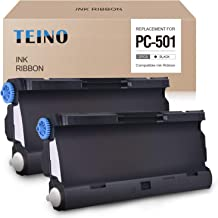 TEINO 2 Pack PC501 Compatible with Brother PC501 PC-501 PC 501 PPF Print Fax Cartridge for Brother Fax 575 FAX-575 (Black)