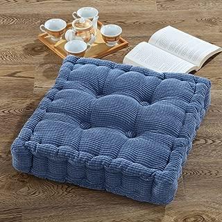 GGYDD Thicken Corduroy Tatami Seat Cushion,Japanese Futon Not-Slip Floor Mat Solid Squarechair Pad Office Chair Cushion-h 50x50cm(20x20inch)