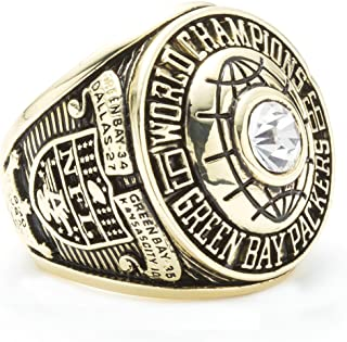 HTEGAE Mens The Year 1966 Green Bay Packers Championship Rings,Size 13
