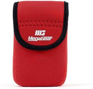 MegaGear MG707 ultralätt neoprenkamerafodral kompatibelt med Panasonic Lumix DC-TZ95, DC-TZ90, DMC-TZ80 – röd