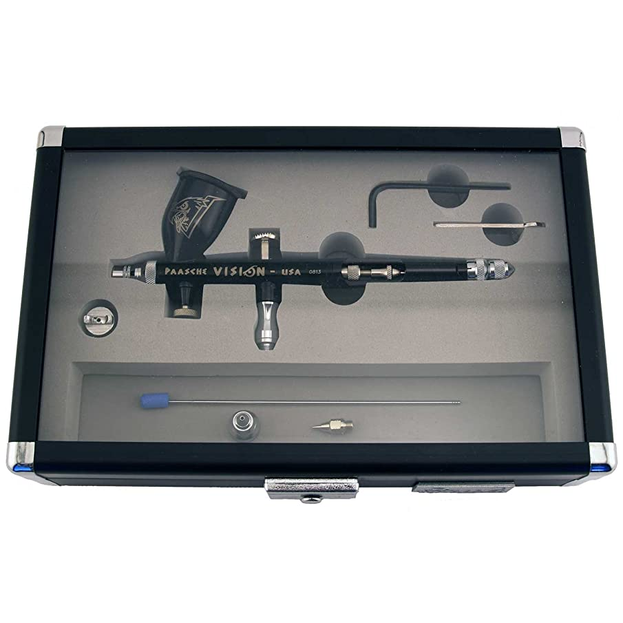 Paasche Airbrush Vision Gravity Feed Double Action Airbrush Set