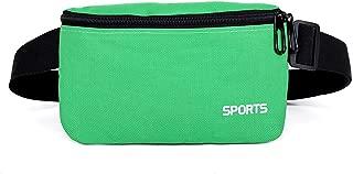 Fanny Pack For Women Men Waist Bag Colorful Unisex Waist Pack Female Belt Bag Male Zipper Bum Bag Hip Pouch,Green