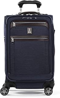 Travelpro Platinum Elite Softside Expandable Spinner Wheel Luggage, True Navy, Carry-On 21-Inch