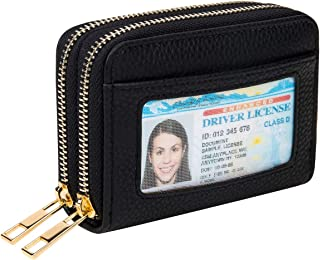 Heaye Card Case Wallet RFID with ID Window Zipper Small