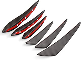 DTOUCH Racing Universal Exterior Front Bumper Lip Splitter Fins Spoiler Canards