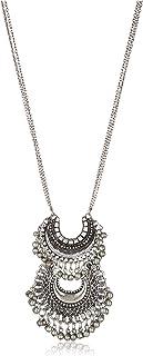 Zephyrr Fashion Turkish Style Beaded Pendant Long Necklace for Women Boho Gypsy