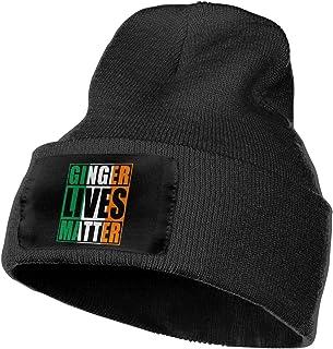 77c7d3fc12e Unisex Ginger Lives Matter Irish Flag Beanie Hats - 100% Acrylic Winter  Soft Skull Knit