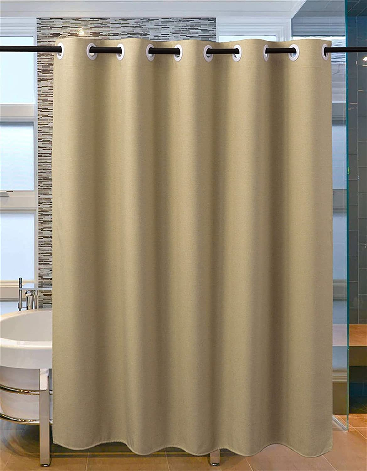 ARWQ857 Shower 55% OFF 67% OFF of fixed price Curtain Imitation Waterproof Linen