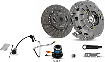 Clutch And Slave Kit With Pre-Bled Clutch Master Cylinder and Line Assembly works with Ford Ranger Mazda B2300 B2500 B3000 1995-2011 2.3L L4 2.5L L4 3.0L V6 (Self Adjusting Plate)