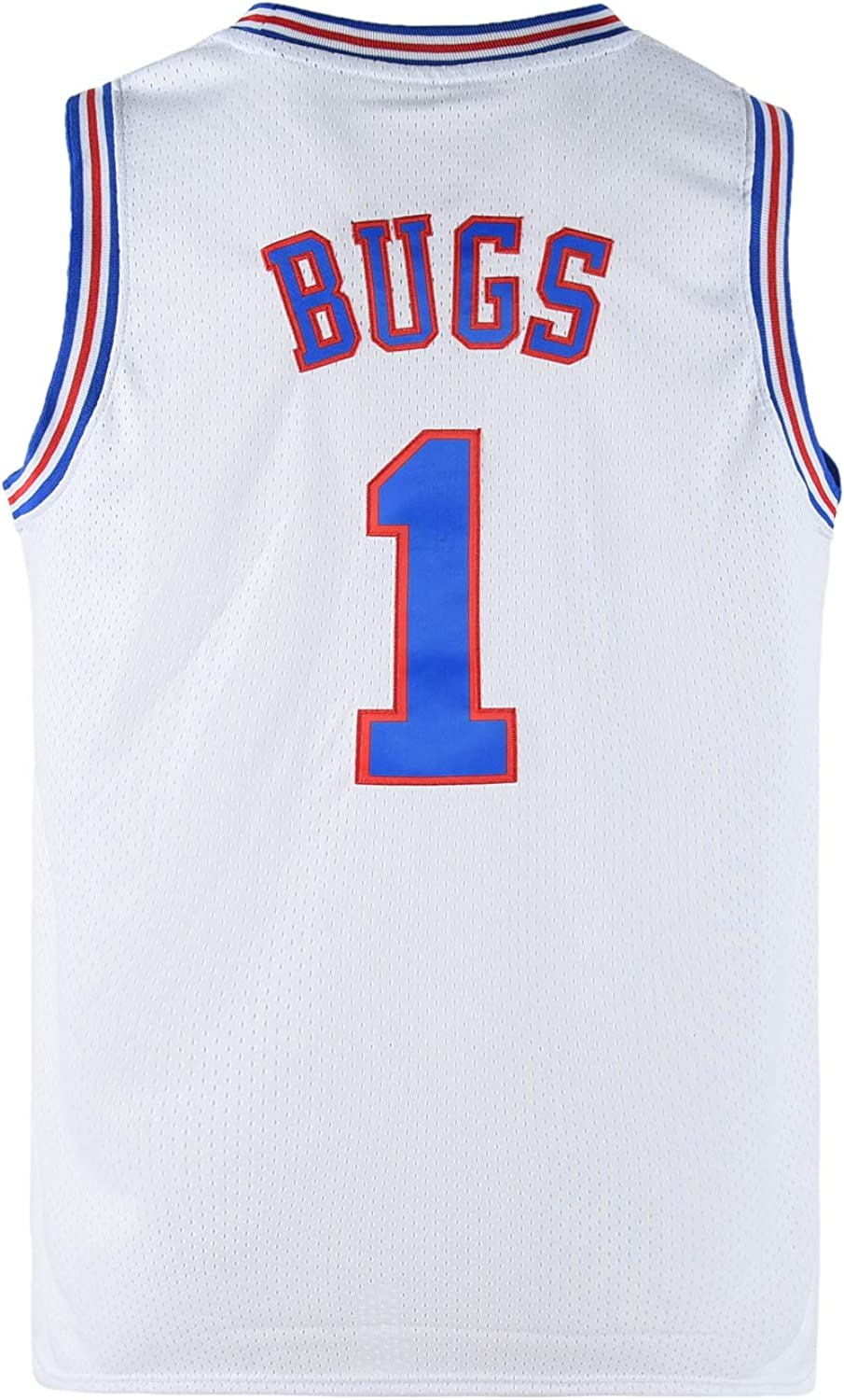 Outlet ☆ Free Shipping COMTOP Year-end gift Youth Bugs 1 Space for Basketball Movie Boy Jersey