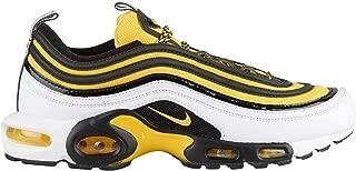 Air Max Plus / 97 - Men's White/Tour Yellow/Black Nylon Running Shoes 8 D US