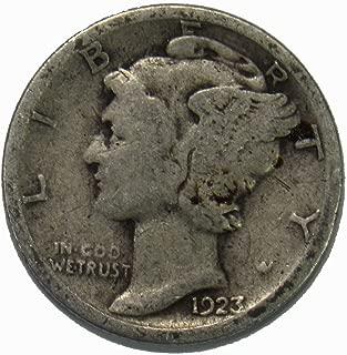 1923 S Silver Mercury Dime 10c Average Circulated