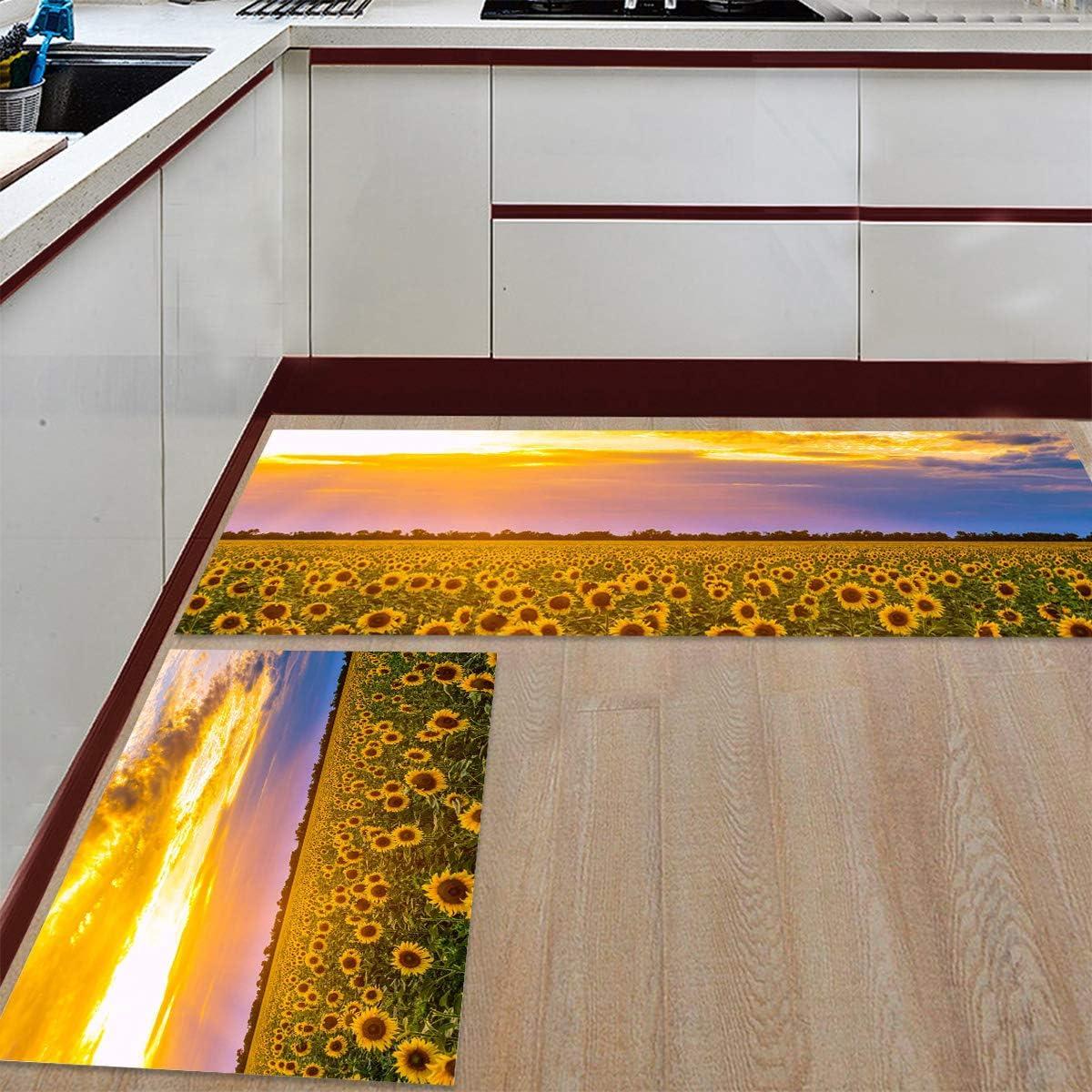 Womenfocus Kitchen Mat High material Set Anti-WearNon-Slip Pi Now free shipping Rug Floor 2