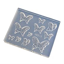 亀島商店 レジンクラフト用 ソフトモールド アニマルシリーズ ぷっくり蝶々 KAM-REJ-634