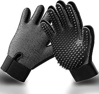 Pet Hair Remover Gloves - Gentle Grooming Bathing Gloves...