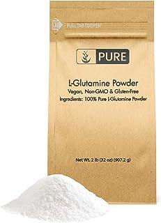 Pure L-Glutamine Powder (2 lb) Vegan, Non-GMO & Gluten-Free for Immunity, Eco-Friendly Packaging