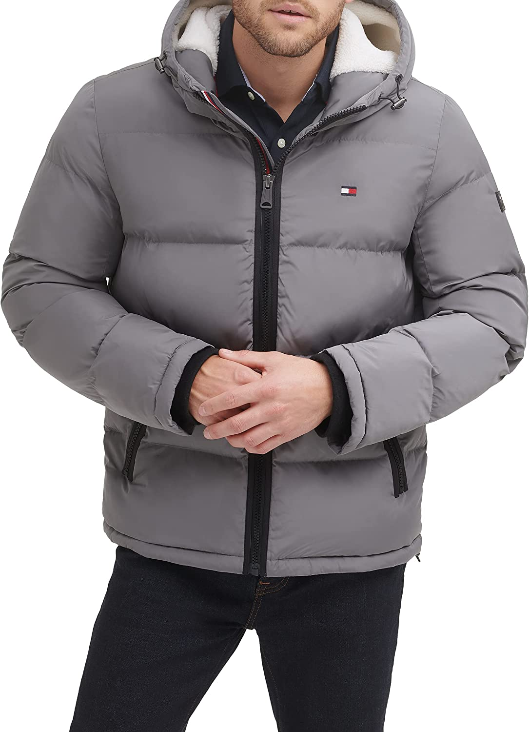 Tommy Hilfiger Financial sales sale Men's Hooded All items in the store Puffer Jacket