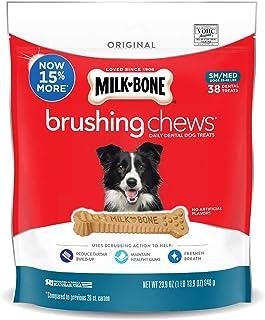 Milk-Bone Advanced Oral Care Brushing Chews Daily Dental Dog Treats.