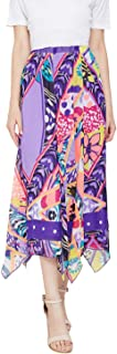oxolloxo Women's Polyester Printed Skirt (Multicolor)