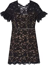 Rebecca Taylor Womens Open Back Lace Dress Black 2
