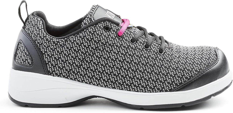 Kodiak Women's Fara Flex St Sd Knit Lace-Up Work shoes in Black