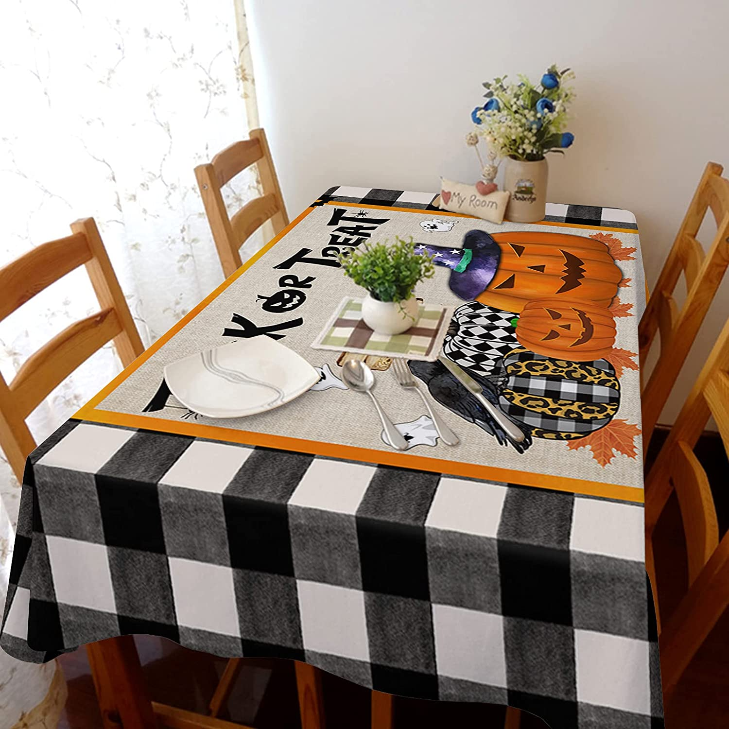 Flouky 60x104in Stretch Durable Dust-Pro 2021 autumn and winter new Linen Tablecloth Ultra-Cheap Deals Cotton