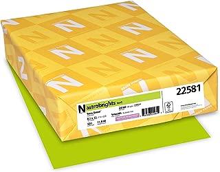 Neenah Astrobrights Premium Color Paper, 24 lb, 8.5 x 11 Inches, 500 Sheets, Terra Green (22581)