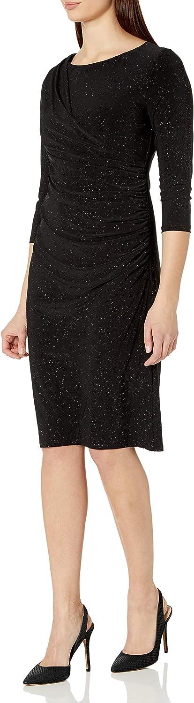 ONYX Nite Women's Short Glitter Lace with Scuba Side Panels