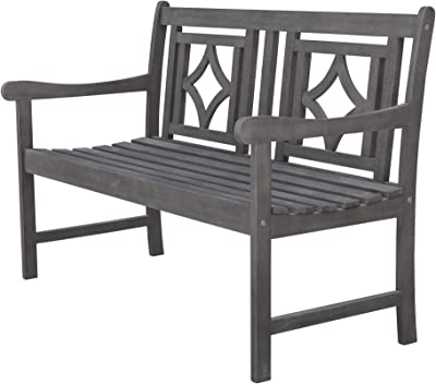 Phenomenal Amazon Com Amazonia Newcastle Patio Bench Made Of Real Gmtry Best Dining Table And Chair Ideas Images Gmtryco