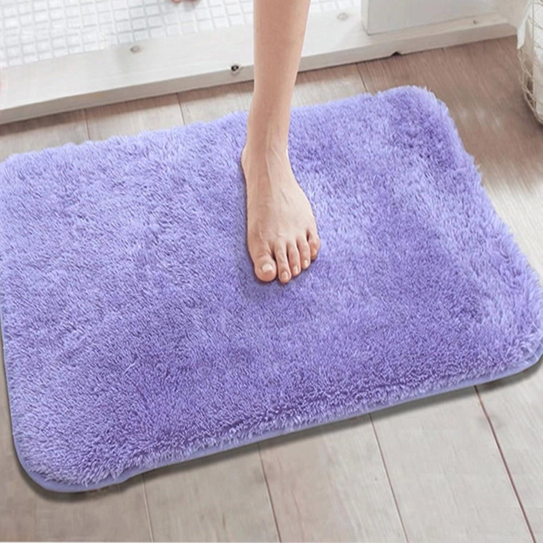 Solid color small door mat Door mat foyer Kitchen Bedroom water-absorbent mats Bathroom Toilet anti-slip mat Bathroom mats-C 80x120cm(31x47inch)