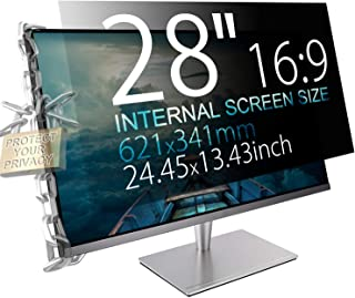 "MAYAMANG 28"" (16:9 Aspect Ratio) Privacy Screen Protector for Widescreen Computer Monitor - 24.45x13.43 inch/621x341 mm - Privacy Filter Display Filter Film - We Offer 2 Different 28"" Filter Sizes"