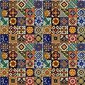 """Color y Tradicion 100 Hand Painted Talavera Mexican Tiles 2""""x2"""" Spanish Mediterranean Decor"""