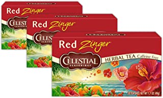 Celestial Seasonings Tea Caffeine Free Herbal Tea, Red Zinger 20 ea (Packs of 3)