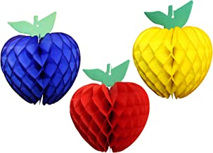 product image for 3-Piece 7 Inch Apple Decoration, Red Blue Yellow
