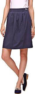 Jump USA Women's Knee Length Pleated Skirt