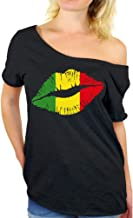 Awkward Styles Women's Rasta Leaf Off The Shoulder Tops for Women T Shirts Marijuana Leaf Pot Leaf