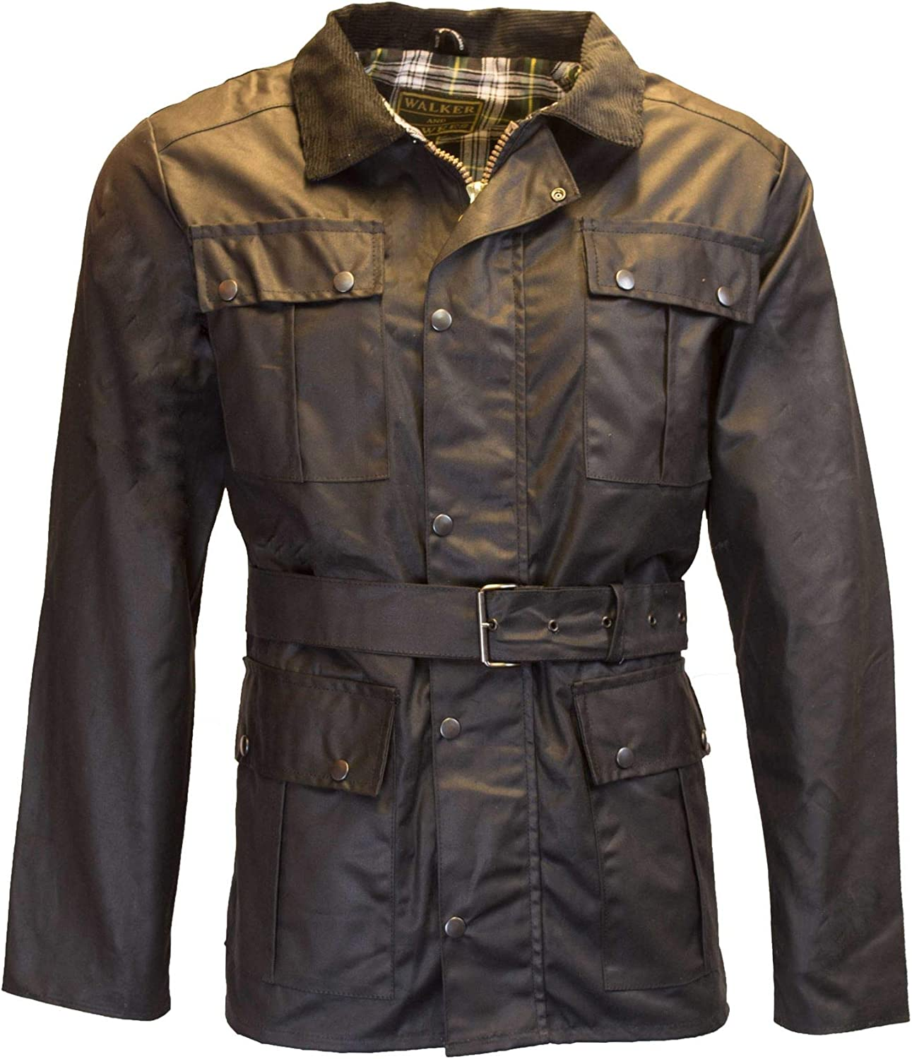 Popular shop is the lowest price challenge Walker Hawkes - Mens Oakland Mall Belted Waxed Motorcycle Pocket 4 Waterpro