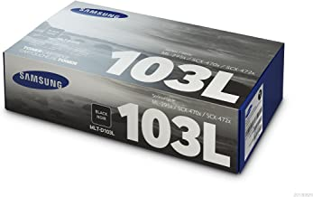 Samsung MLT-D103L Toner Cartridge Black, High Yield for ML-2950ND, 2955ND, 2955DW, SCX-4701ND, 4728FD, 4729FD, 4729FW, 4726FN, 4705ND