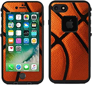 Teleskins Protective Designer Vinyl Skin Decals/Stickers for Lifeproof Fre iPhone 7 / iPhone 8 Case -Basketball Design Patterns - only Skins and not Case