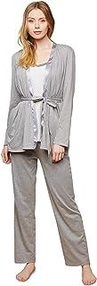 Motherhood Maternity Juego de Pijama de 3 Piezas con función de Lactancia Juego de Pijama para Mujer