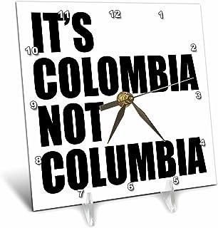 "dc_193278 EvaDane - 趣味语录 - Its Colombia not Columbia。 - 台钟 6"" x 6"" dc_193278_1"