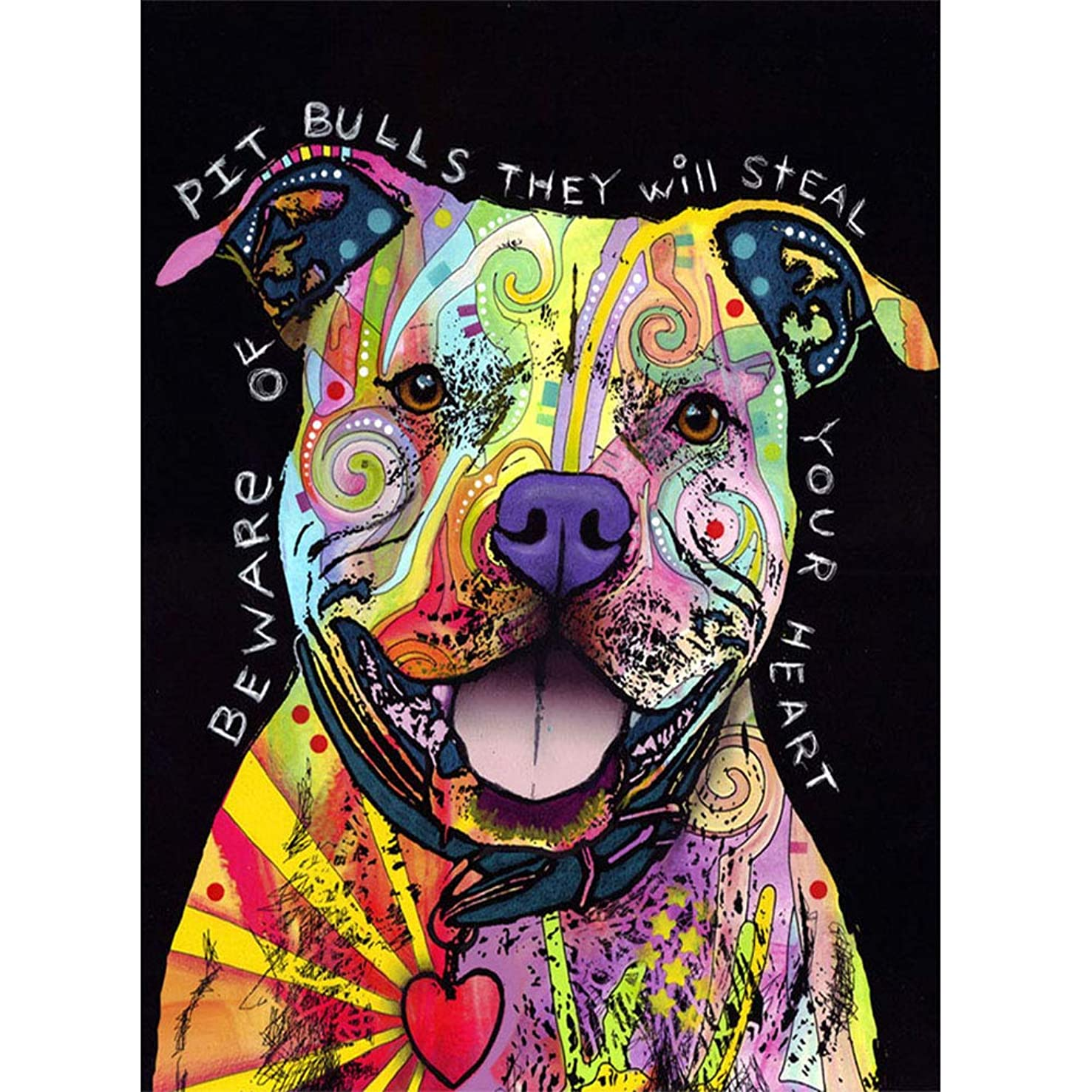 DIY 5D Diamond Painting Kit for Kids Adults,Bulldog Paint-by-Number Diamond Art Craft Pictures for Home Wall Christmas Decor, Animal Painting Wall Home Decor Cross Stitch Art Craft Work