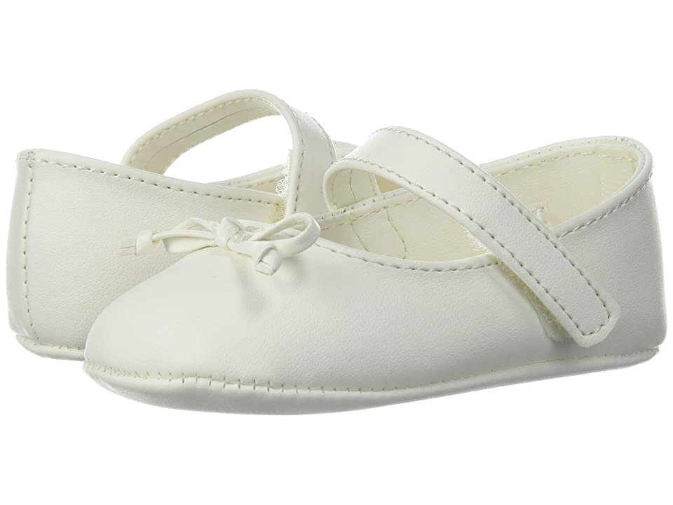 Baby Deer Soft Sole Ballet with Bow (Infant) (Ivory) Girl