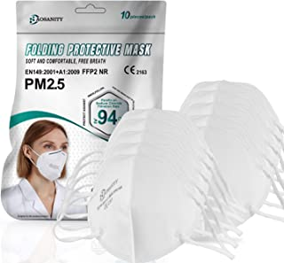 10X Mondmasker Beschermend Masker KN95 / FFP2 masker, 4-laags Ademhalingsmasker, Volwassen Masker, Mond-neus Gelaatsbesche...