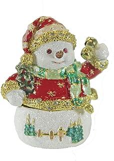 Christmas trinket box Snowman holding Tree /& Bird trinket box Snowman trinket box