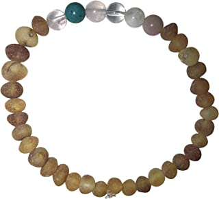 The Fertility Amber Jewelry by Umai: Helps Balance Hormones, Stress, Aligns Moon Cycles (7 inch Bracelet)