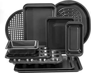 Royalford 6 piece Bakeware Set – Carbon Steel, Oven Safe, Premium Non-Stick Coating, 0.4MM Thick, PFOA, PTFE, and BFA Free